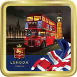 Vintage Bus & Big Ben tin image