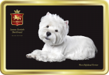 West Highland Terrier tin image