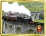 'The Jacobite' on Glenfinnan Viaduct tin image