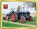Fordson Tractor and Plough tin image