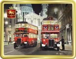 Vintage Buses At St Pauls tin image