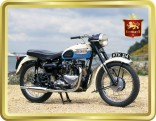 Classic Triumph Motorcycle tin image