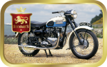 Classic Motorcycle by the Coast tin image