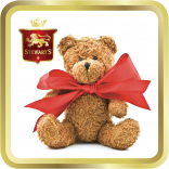 Teddy & Bow tin image