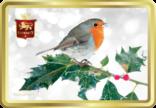 Robin on Holly tin image