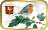 Robin on Holly tin image