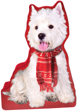 Westie with Red Scarf tin image
